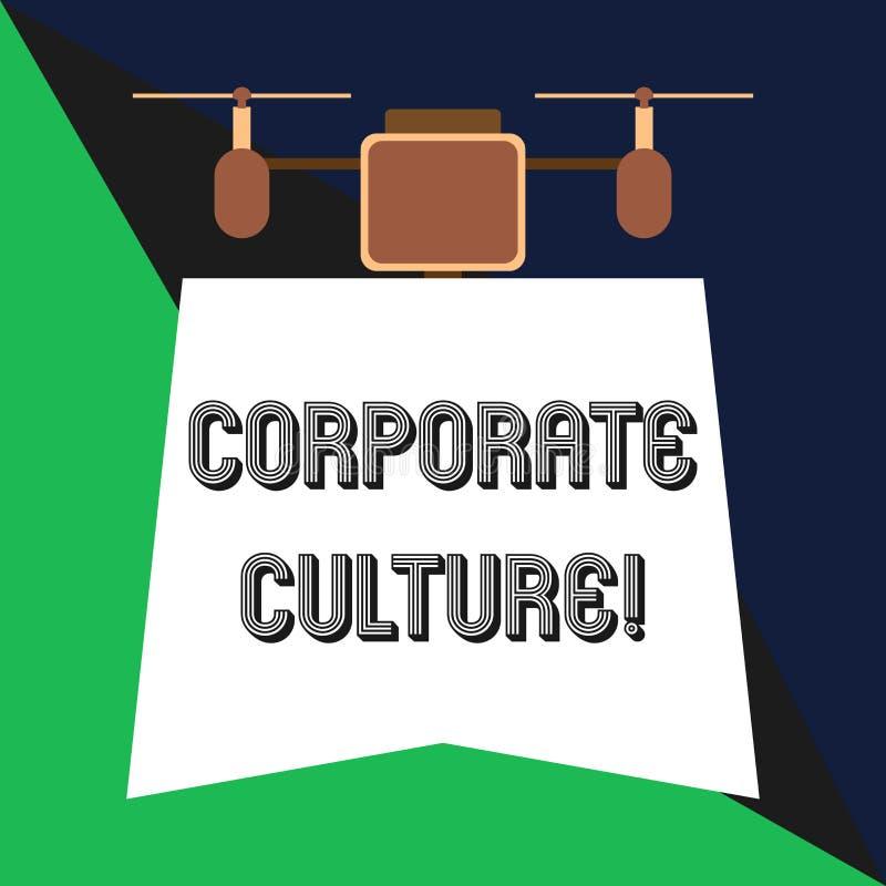 Sinal do texto que mostra a cultura empresarial Opiniões e atitudes conceptuais da foto que caracterizam uma terra arrendada do z ilustração do vetor