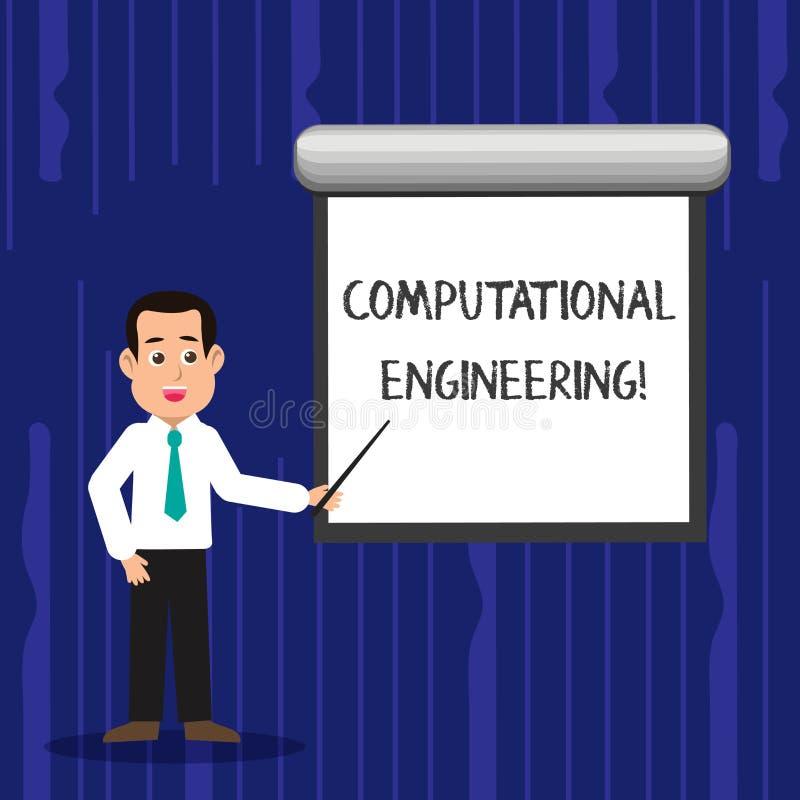 Sinal do texto que mostra a engenharia computacional O desenvolvimento conceptual da foto e os modelos computacionais da aplicaçã ilustração stock