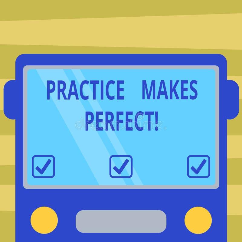 Sinal do texto que mostra Errando se aprende Exercício regular da foto conceptual da habilidade a tornar-se perita nele tirado ho ilustração do vetor