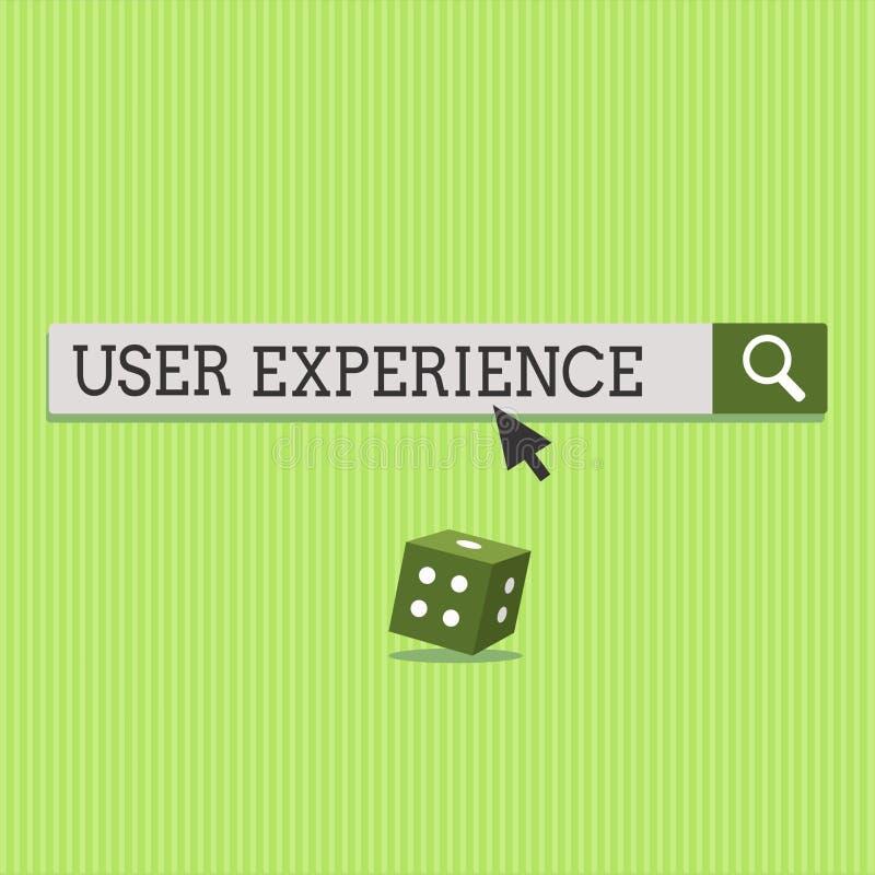 Sinal do texto que mostra a experiência do usuário Foto conceptual usando o Web site especialmente nos termos como o satisfazer é ilustração do vetor