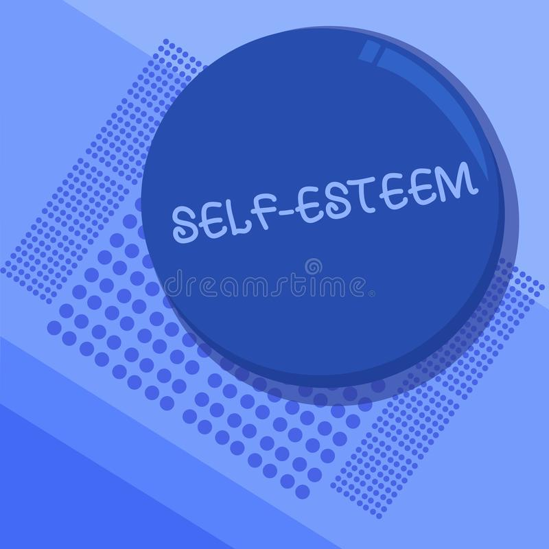 Sinal do texto que mostra o amor-próprio Confiança conceptual da foto em sua própria valor ou apreciação pessoal das capacidades ilustração do vetor
