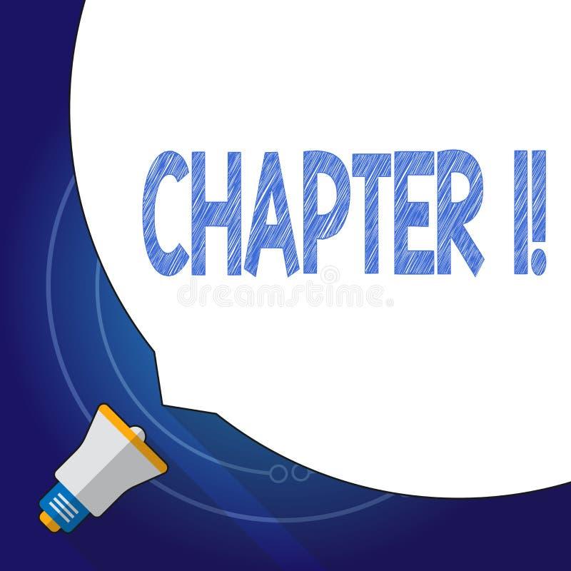 Sinal do texto que mostra o capítulo 1 Foto conceptual que começa algo novo ou que faz mudanças grandes em umas viagem ilustração stock