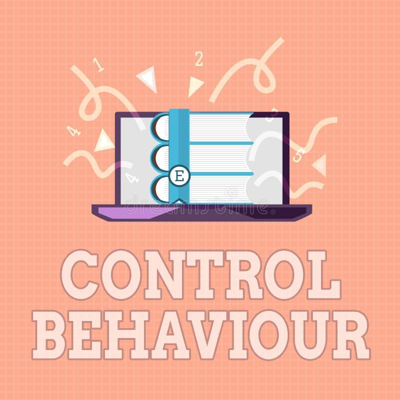 Sinal do texto que mostra o comportamento de controle Exercício conceptual da foto da influência e da autoridade sobre a conduta  ilustração royalty free