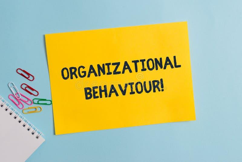 Sinal do texto que mostra o comportamento de organiza??o A foto conceptual o estudo de mostrar da maneira interage dentro dos gru foto de stock royalty free