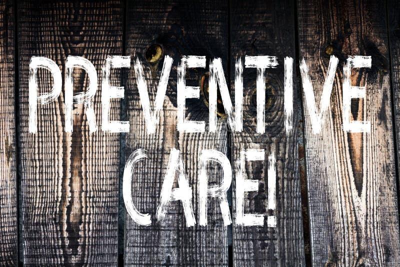 Sinal do texto que mostra o cuidado preventivo O diagnóstico conceptual da prevenção da saúde da foto testa a consulta médica de  foto de stock royalty free