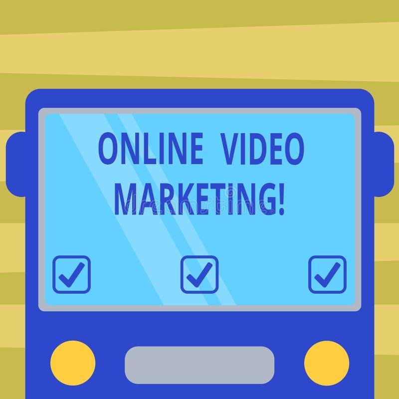 Sinal do texto que mostra o mercado video em linha Vídeo de contrato da foto conceptual na parte dianteira lisa tirada campanhas  ilustração royalty free