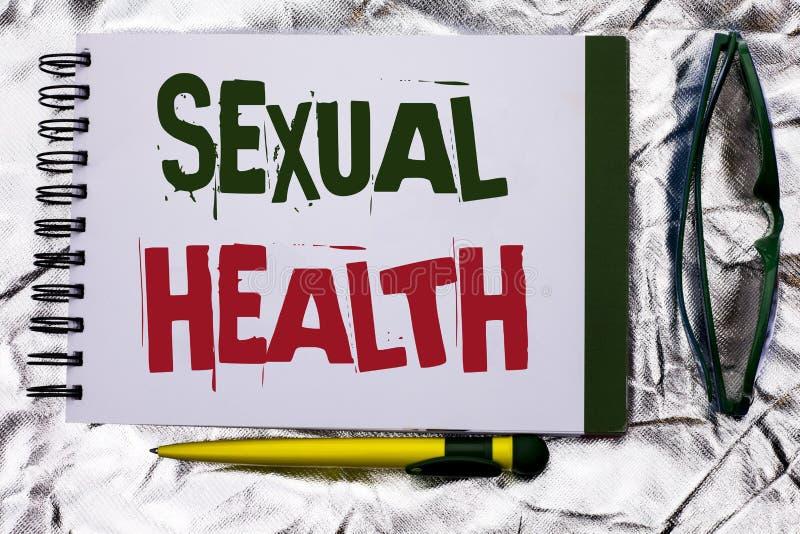 Sinal do texto que mostra a saúde sexual Cuidado saudável do sexo dos hábitos da proteção conceptual do uso da prevenção da foto  fotos de stock