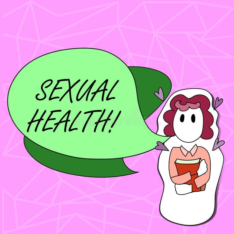 Sinal do texto que mostra a saúde sexual Cuidado saudável do sexo dos hábitos da proteção conceptual do uso da prevenção da foto  ilustração stock