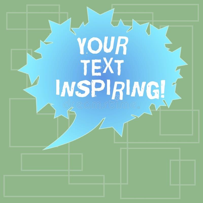 Sinal do texto que mostra seu texto que inspira As palavras conceptuais da foto fazem-no sentir placa excitando e fortemente entu ilustração do vetor