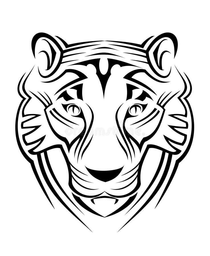 Sinal do tigre ilustração royalty free