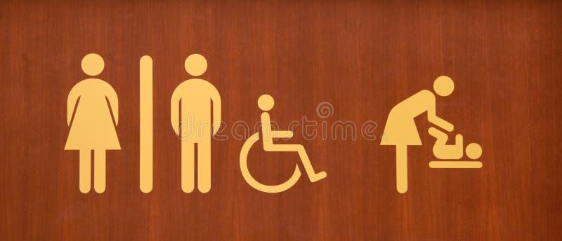 Sinal do toalete imagem de stock royalty free