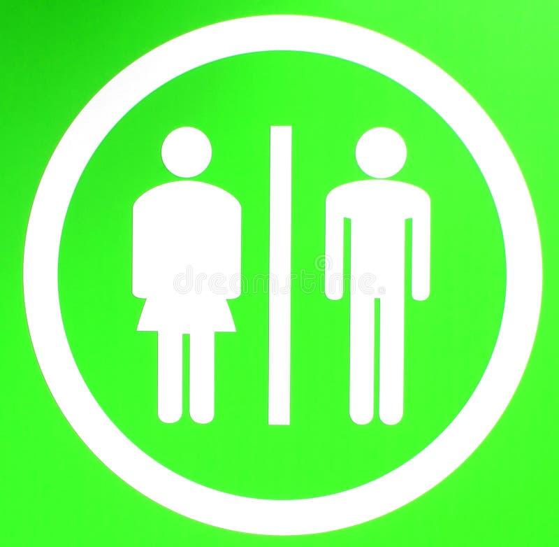 Sinal do toalete ilustração stock