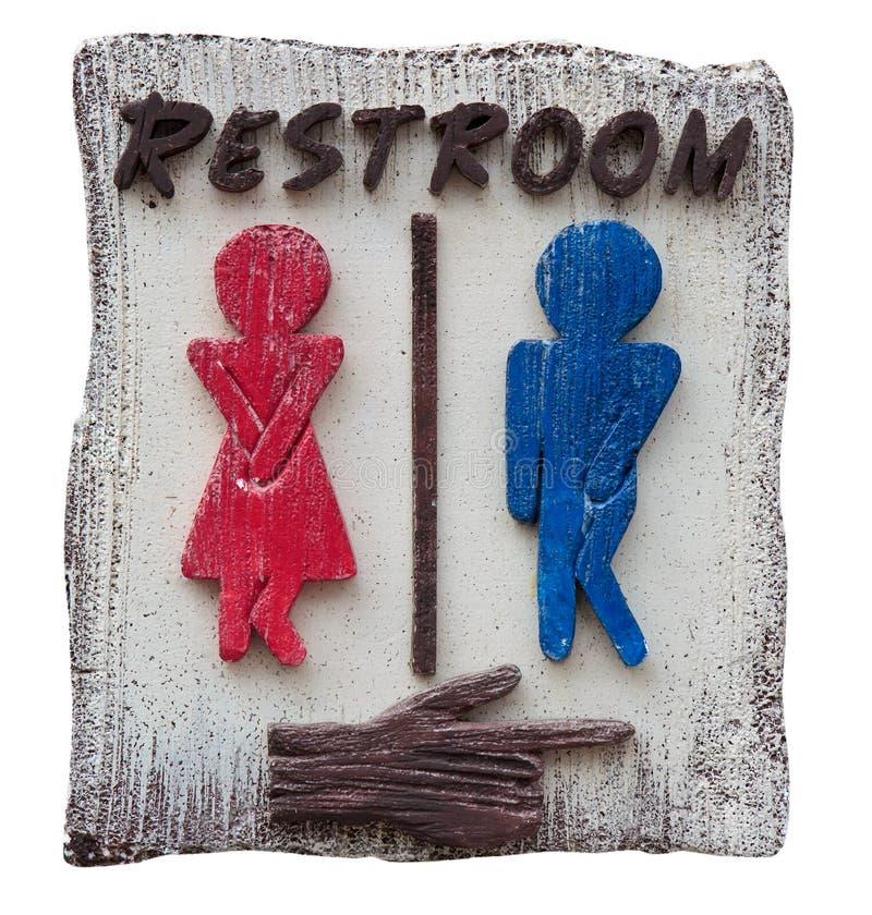 Sinal do toalete dos homens e das mulheres imagens de stock