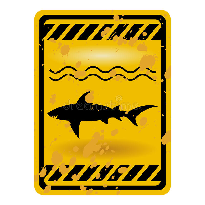 Sinal do tubarão ilustração stock