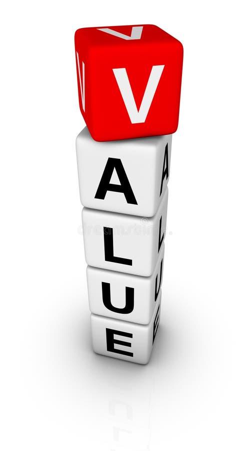 Sinal do valor ilustração do vetor