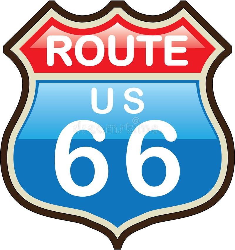 Sinal do vetor de Route 66 ilustração stock