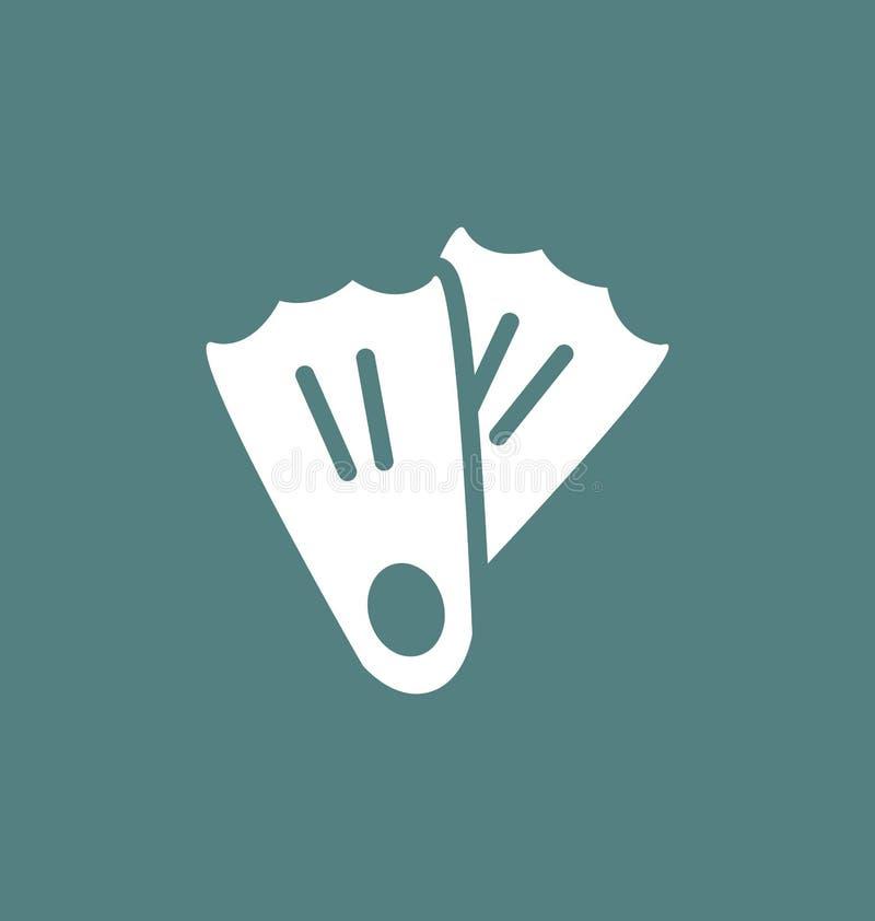 Sinal do vetor do ícone das aletas ilustração do vetor