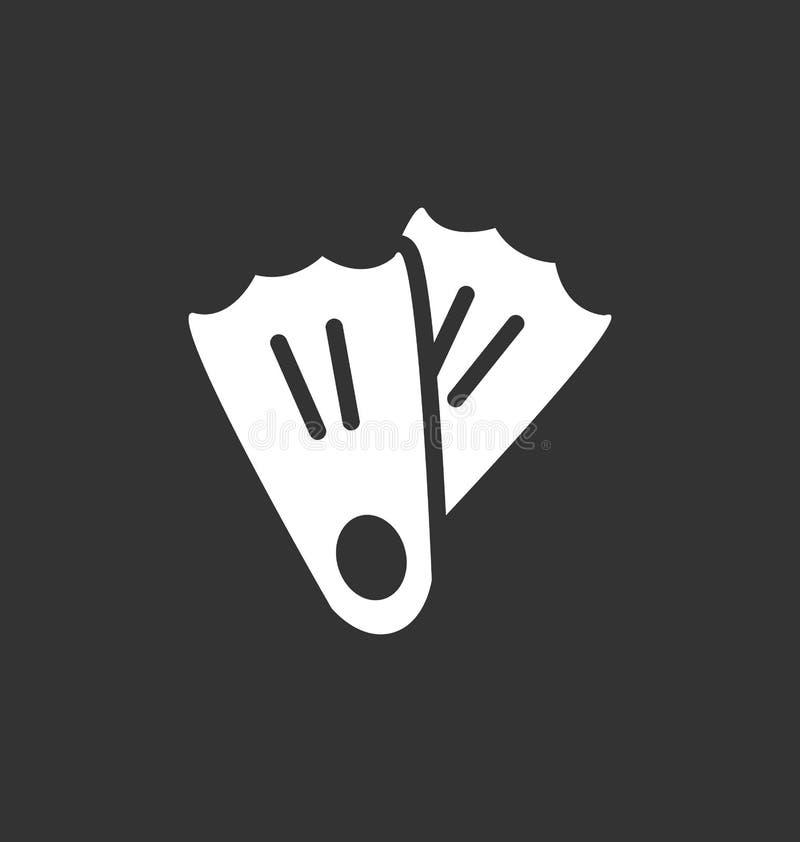 Sinal do vetor do ícone das aletas ilustração royalty free