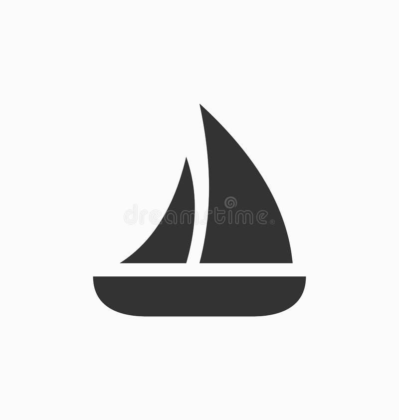 Sinal do vetor do ícone do veleiro ilustração do vetor
