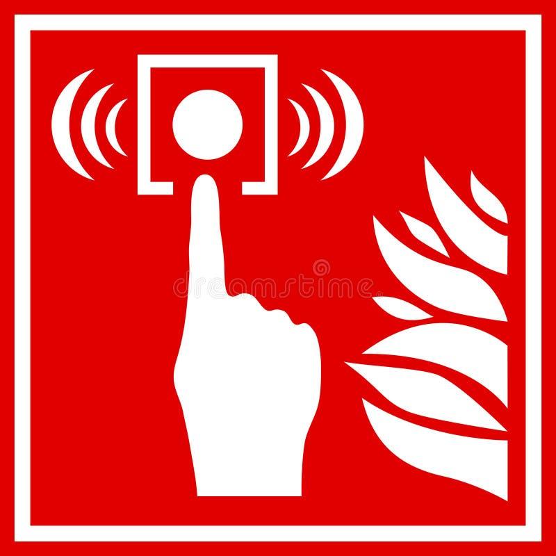 Sinal do vetor do alarme de incêndio ilustração stock
