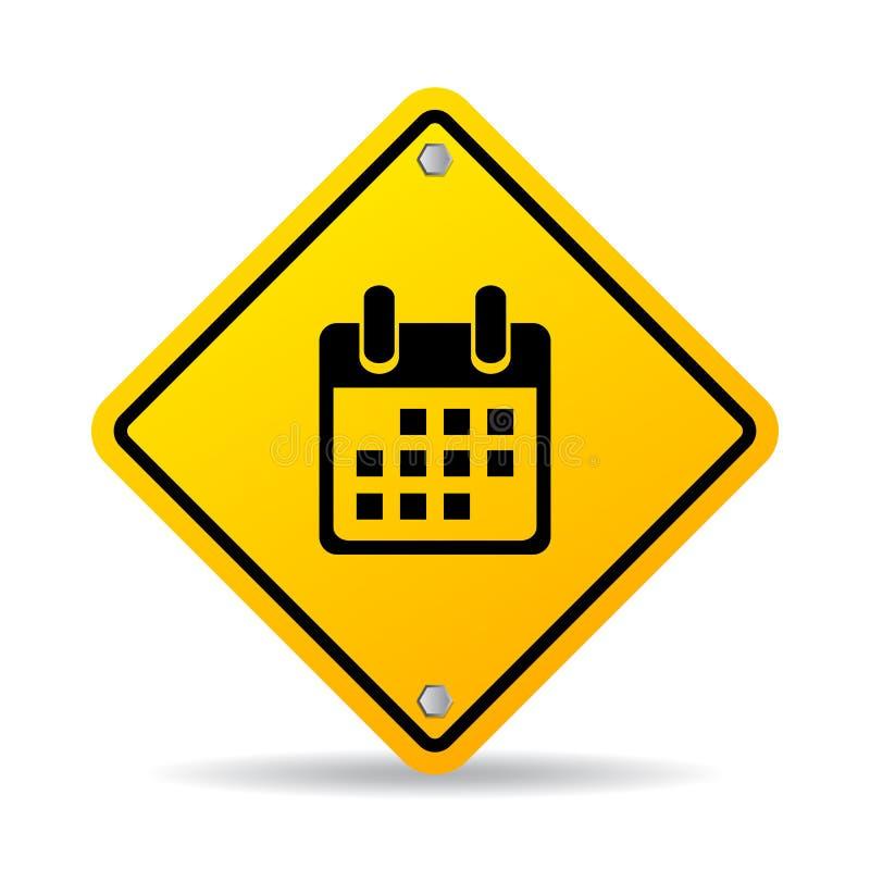 Sinal do vetor do planeamento do tempo ilustração stock