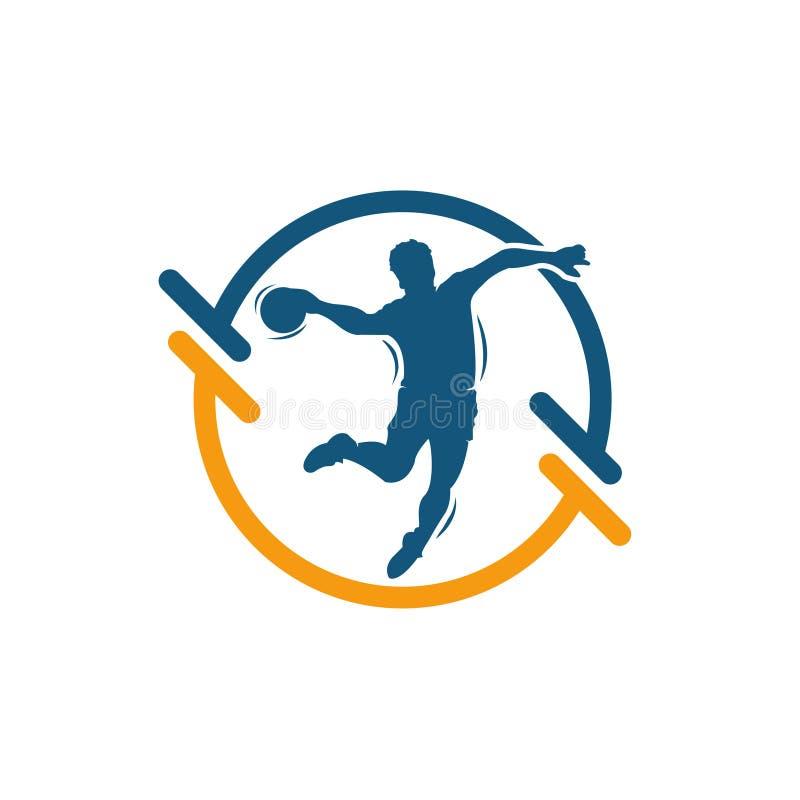 Sinal do vetor do handball Colorido abstrato ilustração royalty free
