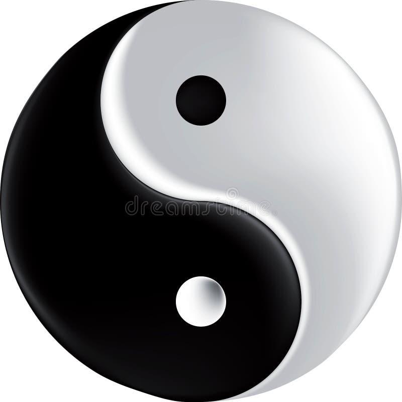 Sinal do vetor que ying o engranzamento de yang ilustração do vetor
