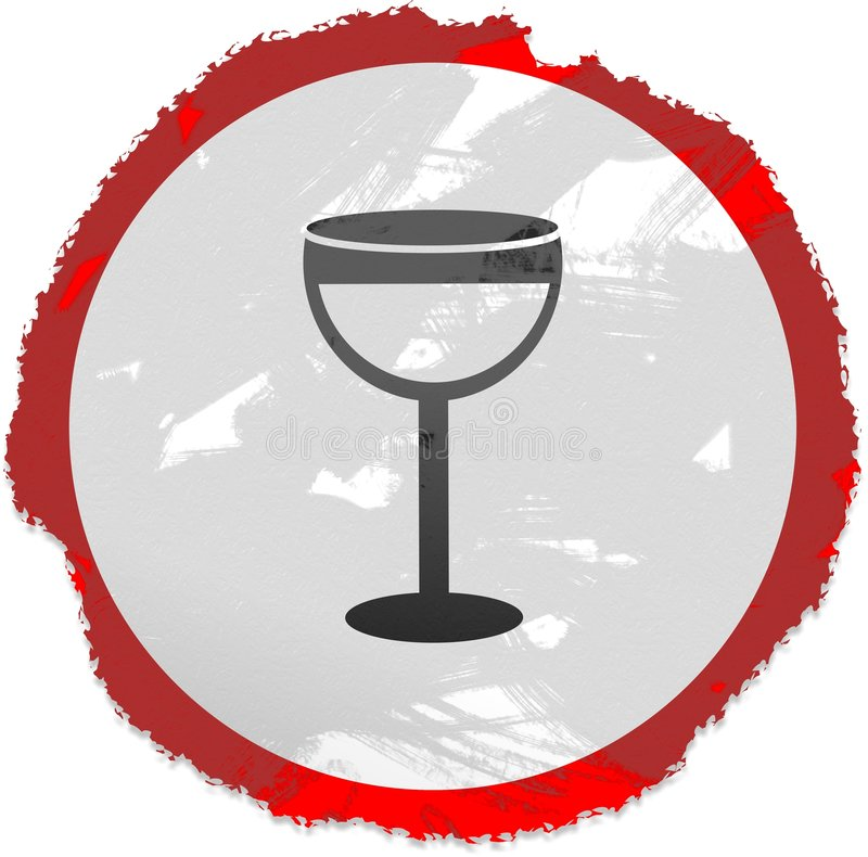 Sinal do vinho de Grunge ilustração royalty free