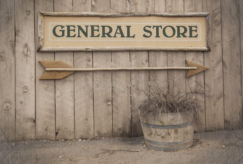 Sinal do vintage, loja geral imagens de stock royalty free
