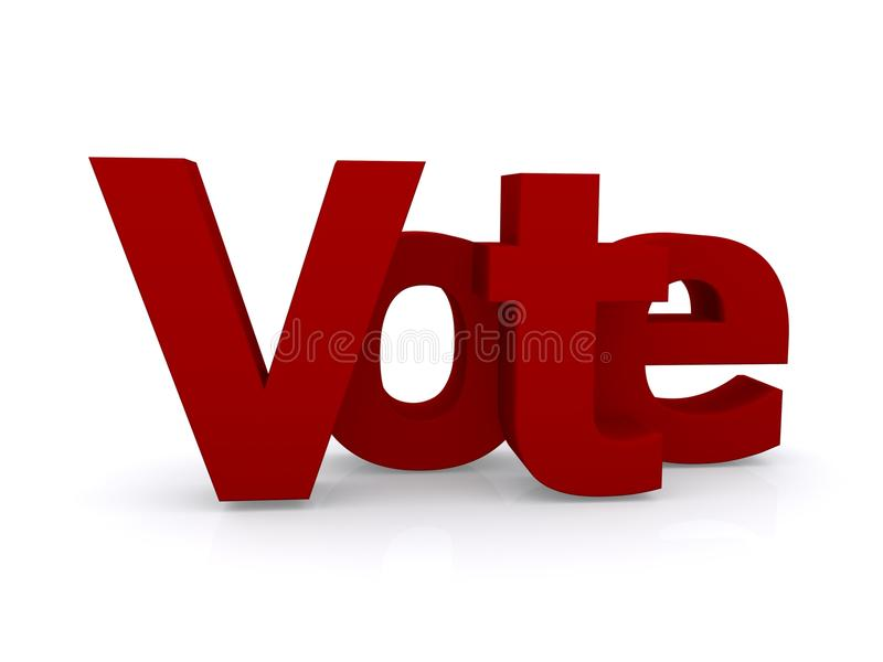 Sinal do voto ilustração royalty free