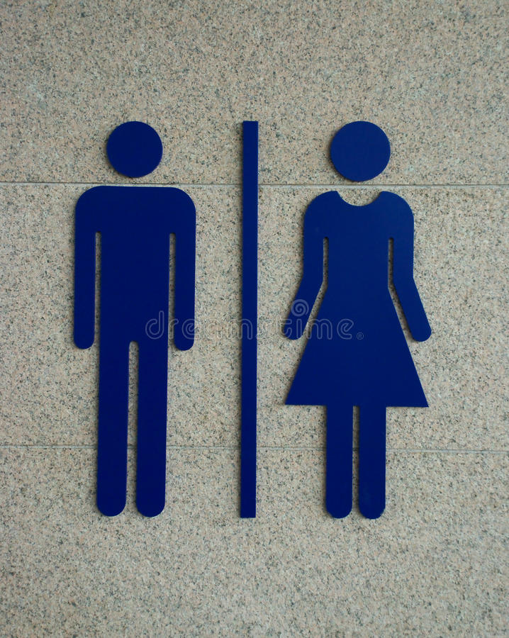 Sinal do Washroom foto de stock