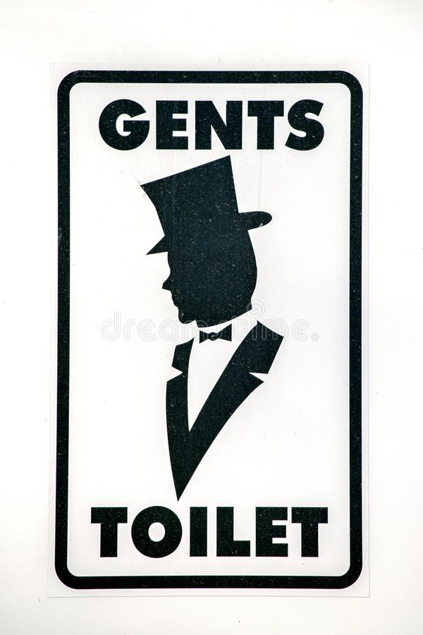Sinal do WC dos homens para o toalete imagens de stock royalty free