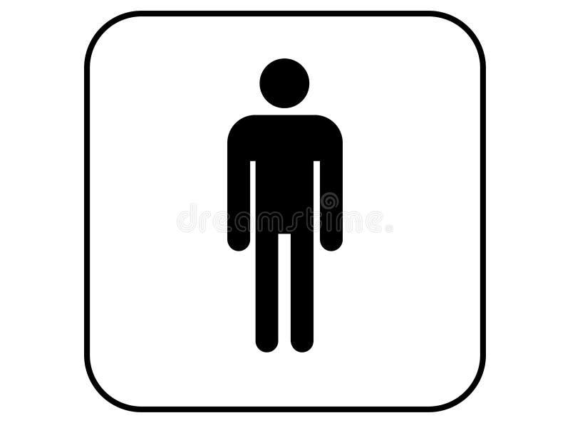 Sinal do wc dos homens, vetor do ícone do toalete do homem fotografia de stock