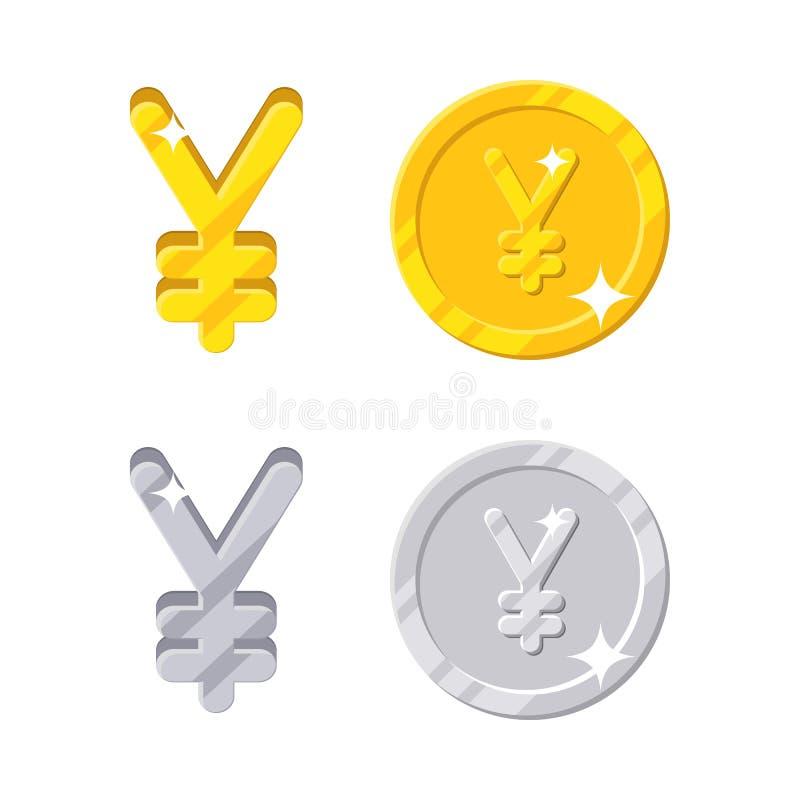 Sinal do yuan dos ienes ilustração royalty free