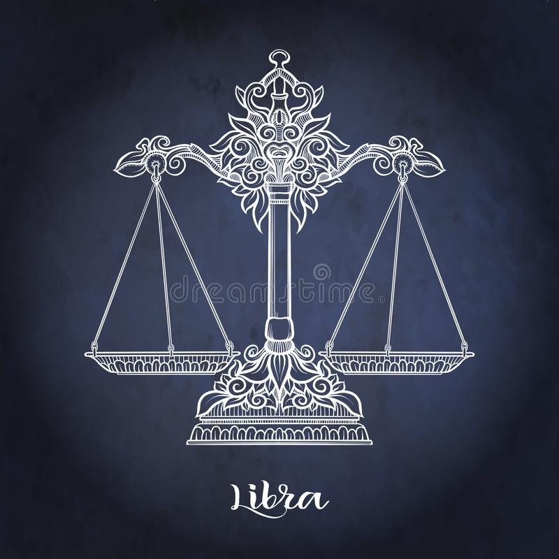 Sinal do zodíaco Coleção astrológica do horóscopo Ilustração do vetor ilustração royalty free