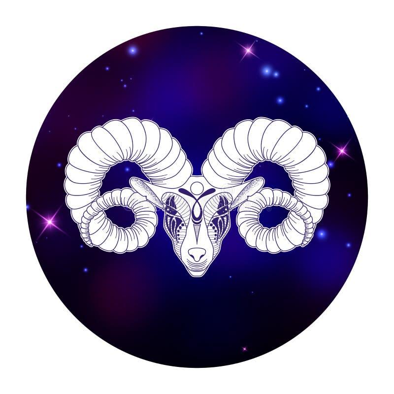 Sinal do zodíaco do Áries, símbolo do horóscopo, ilustração do vetor ilustração stock