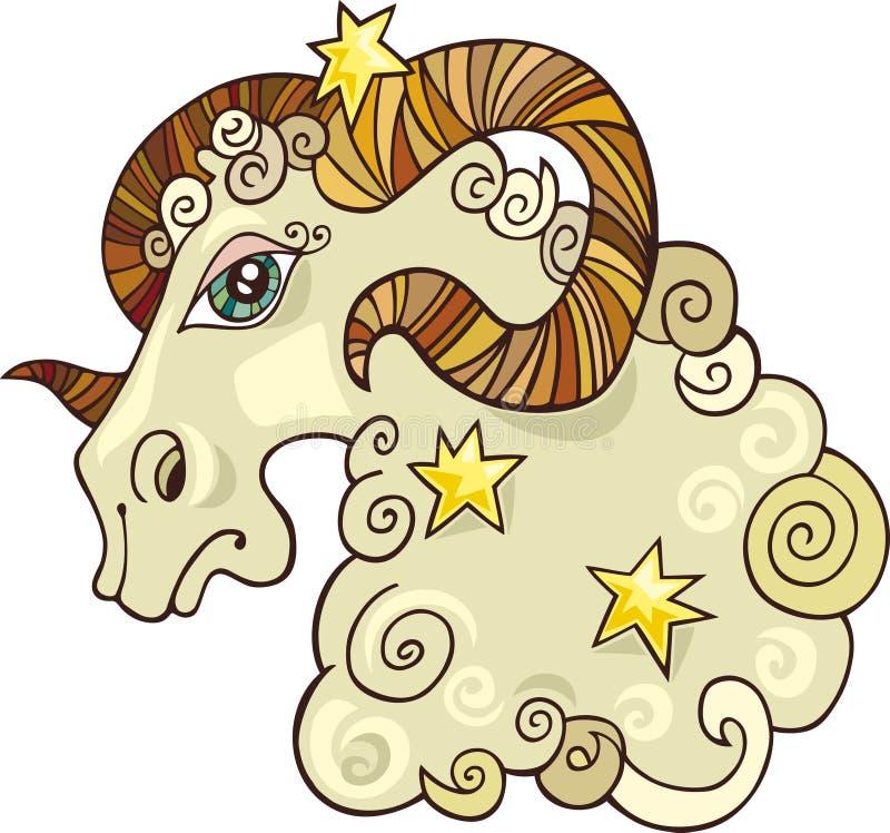 Sinal do zodíaco do Aries ilustração do vetor