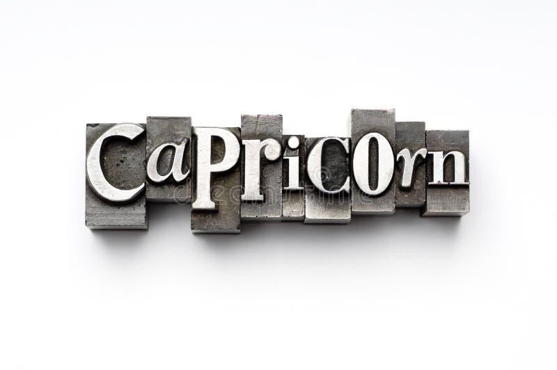 Sinal do zodíaco do Capricorn foto de stock