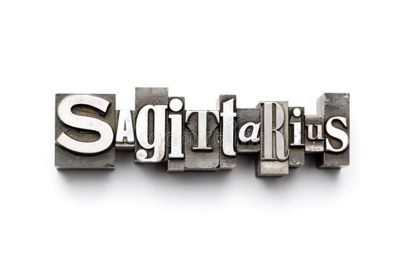 Sinal do zodíaco do Sagittarius imagens de stock royalty free