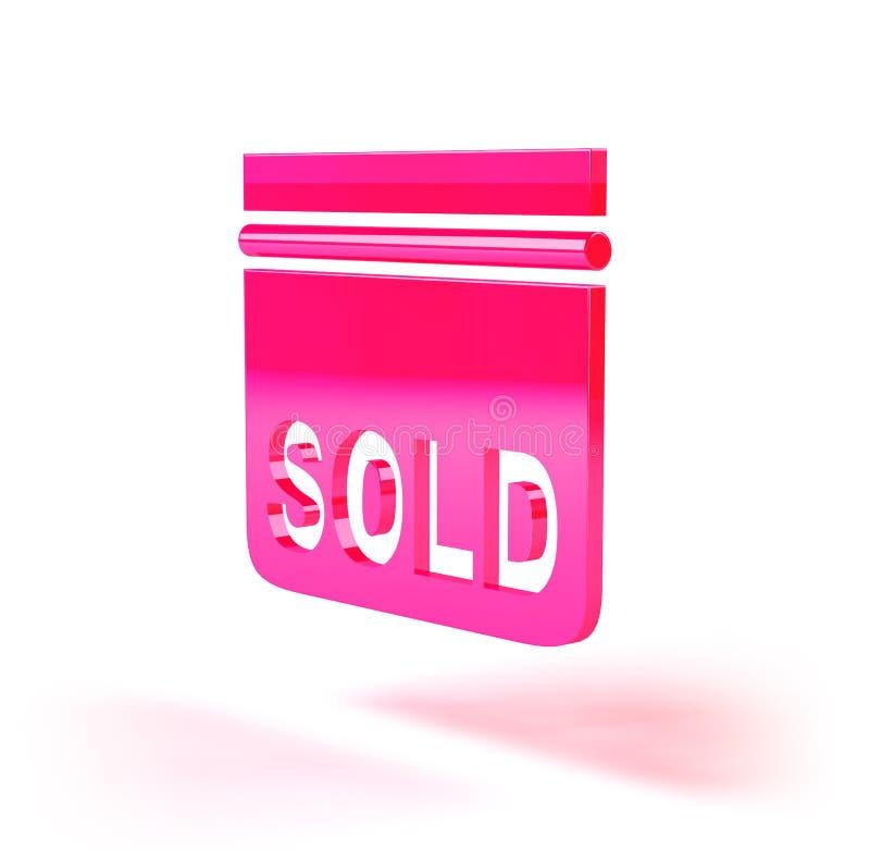 Sinal dos bens imobiliários ilustração stock