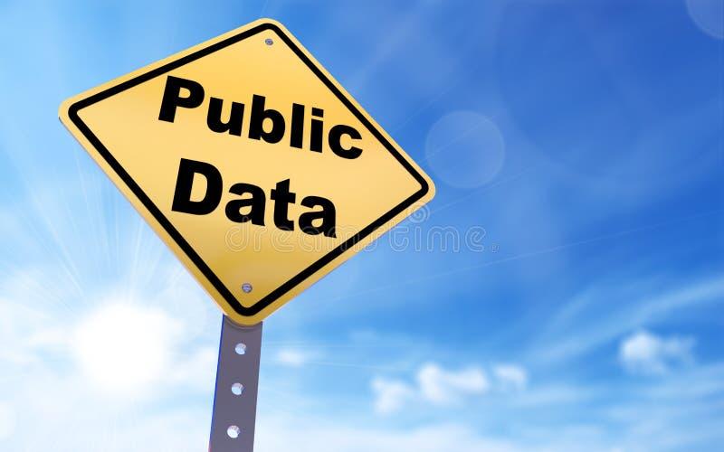 Sinal dos dados públicos ilustração stock