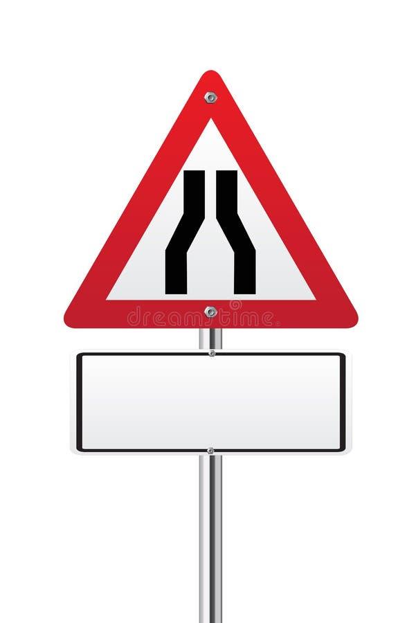 Sinal dos estreitos de estrada ilustração do vetor
