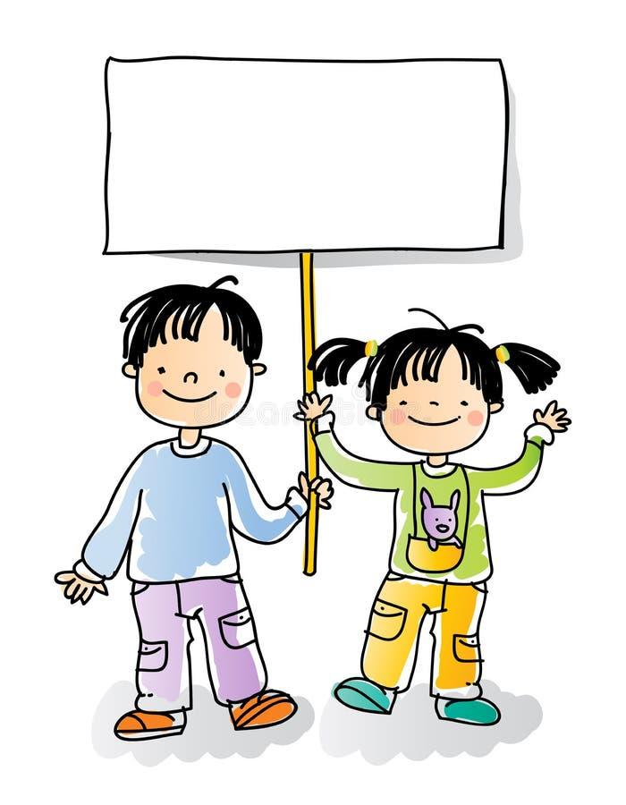 Sinal dos miúdos ilustração stock