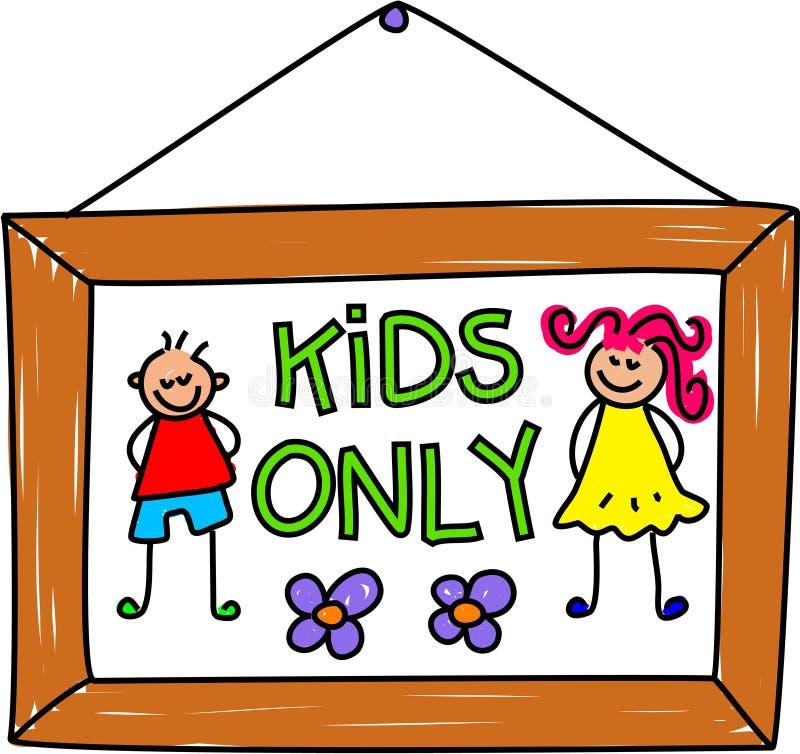 Sinal dos miúdos ilustração royalty free
