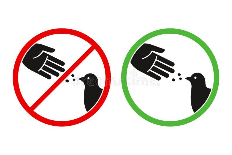 Sinal dos pássaros da alimentação do ` t de Don ilustração stock