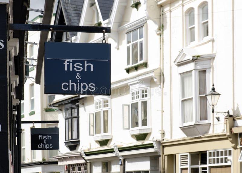 Sinal dos peixes e das microplaquetas fotografia de stock royalty free