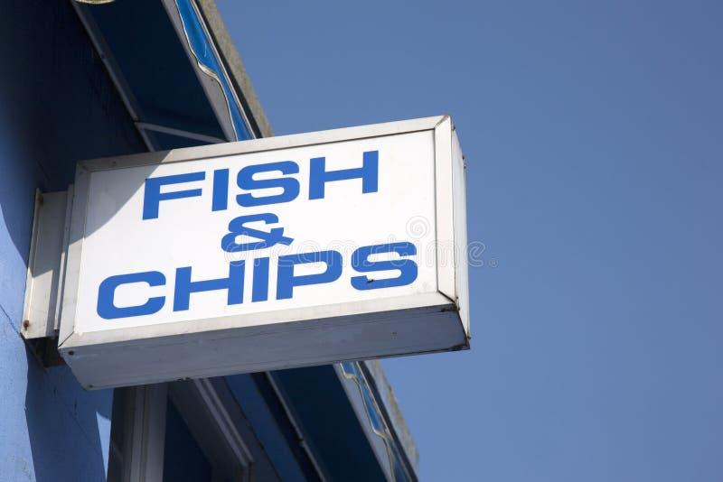 Sinal dos peixes e das microplaquetas imagem de stock