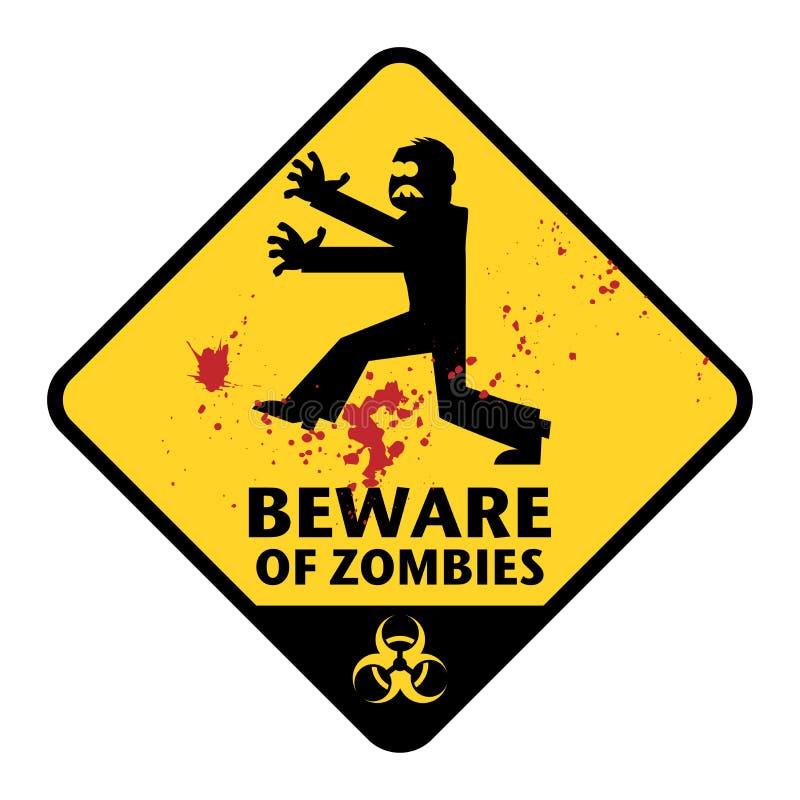Sinal dos zombis ilustração royalty free