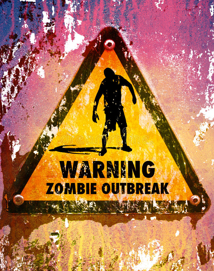 Sinal 1 dos zombis ilustração royalty free