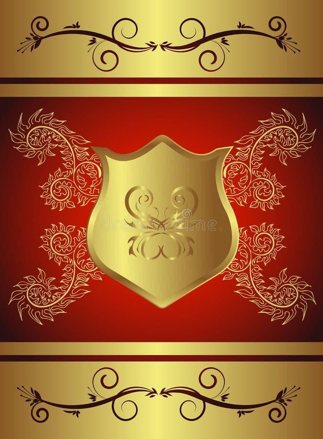 Sinal dourado ilustração royalty free